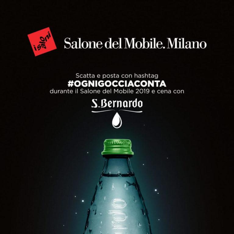 Acqua S.Bernardo è l'acqua ufficiale del 58° Salone del Mobile