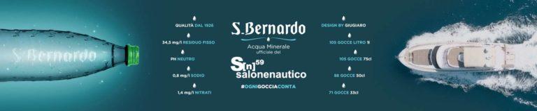 Acqua S.Bernardo è l'acqua ufficiale del 59° Salone Nautico