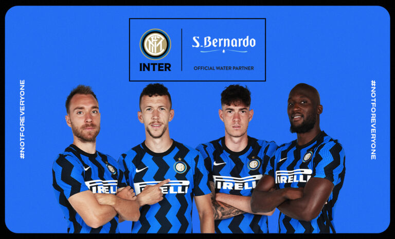 Acqua S.Bernardo è Official Water Partner di FC Internazionale Milano