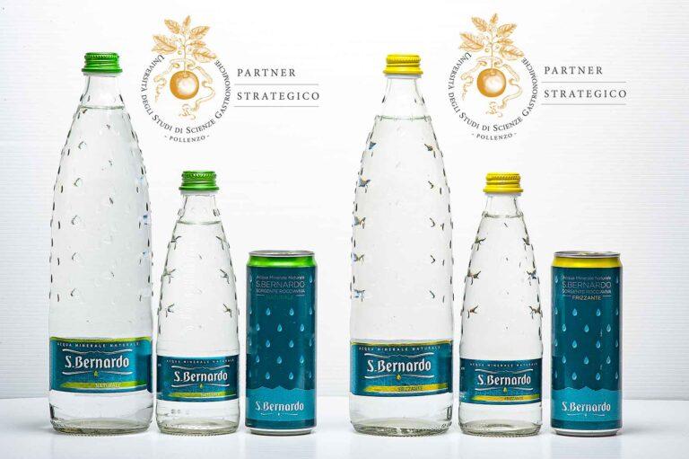 Acqua S.Bernardo <br> è Partner Strategico dell'Università degli Studi di Scienze Gastronomiche di Pollenzo